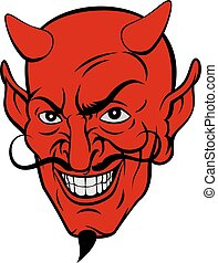 Devil Cartoon Face