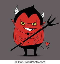 Devil cartoon vector