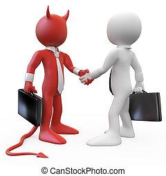 Devil closing a deal