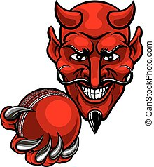 Devil Cricket Sports Mascot