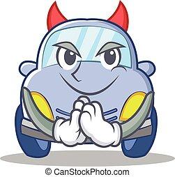 Devil cute car character cartoon