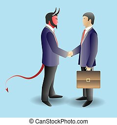 Devil deal concept vector illustration