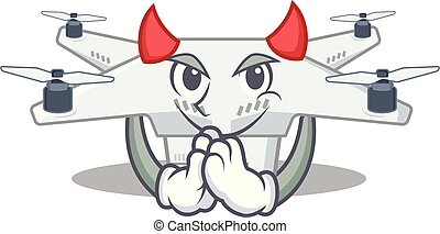 Devil drone in the a character shape