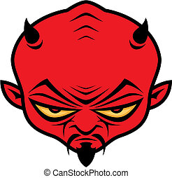 Devil Dude - Cartoon illustration of a mean devil character...