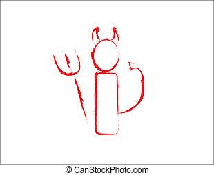 Devil - simple design of a devil