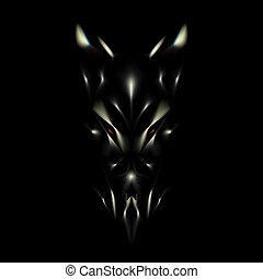 Devil face background
