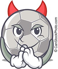 Devil football character cartoon style