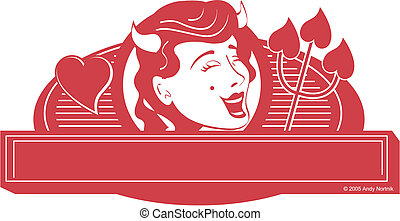 Devil girl clip art graphic
