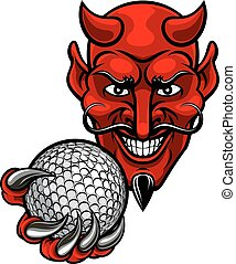 Devil Golf Sports Mascot
