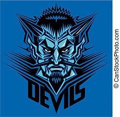 devil head mascot team design for school, college or league