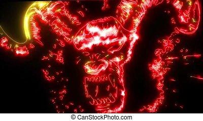 Devil head video laser animation - Devil head video...