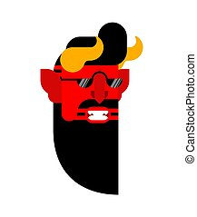 Devil Hipster isolated. Satan Fashionable look. Demon ...