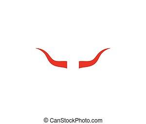 Devil horn logo vector