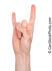 Devil horns hand sign