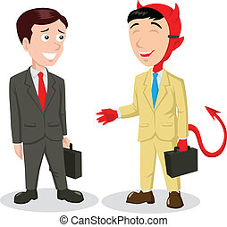 Devil In Disguise - Cartoon illustration of the devil...