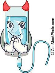 Devil infussion bottle mascot cartoon