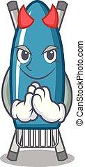 Devil iron board mascot cartoon