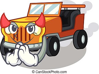 Devil jeep car toys in shape character