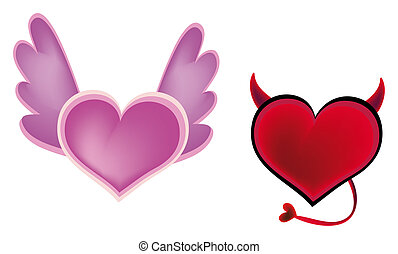 devil?, liefde, of, engel