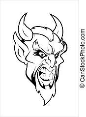 Devil Mascot Vector Character - Creative Abstract Conceptual...