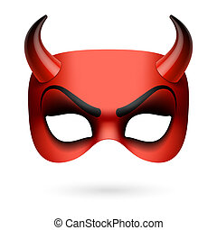 Devil mask illustration