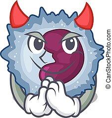 Devil monocyte cell Cartoon in character design. Vector ...