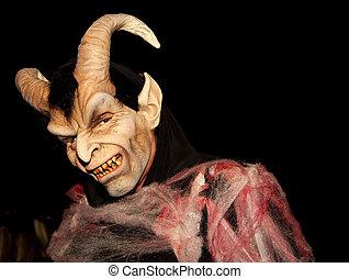 Devil - A man on halloween night.