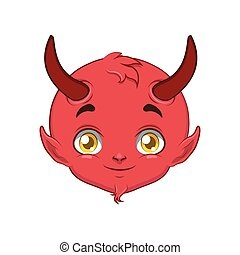 Devil portrait for multiple uses, avatar, icon, other