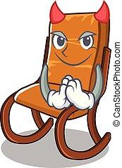 Devil rocking chair in the cartoon shape