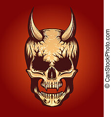 Devil Skull Illustration