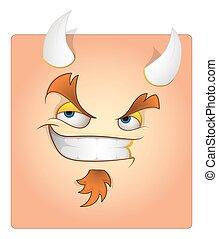Devil Smile Box Smiley Vector