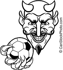 Devil Soccer Football Mascot