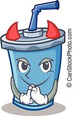 Devil soda drink character cartoon