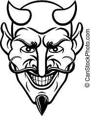 Devil Sports Mascot - A devil cartoon character sports...