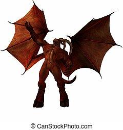 Devil - 3D Render of an fantasy Monster