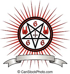 Devil Symbol - Vector illustration full of magic and satanic...