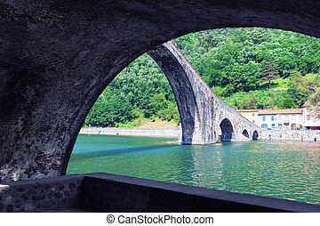Devils Bridge in Italy