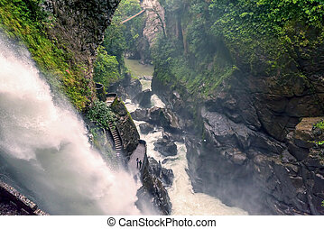 Devils Cauldron Waterfall, Ecuador