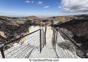Devils Chair Trail in Los Angeles County California - Top of...