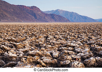 Devils Golf Course at Badwater Basin in Death Valley ...