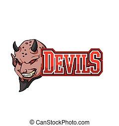 devils illustration design colorful