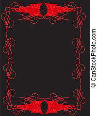 devils letterhead concept on black