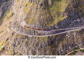 Touristic Train Trip, Route Through The Andes Mountains