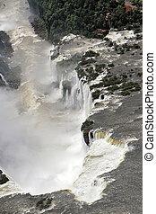 """Devil's Throat"" the part of the Iguazu Falls"