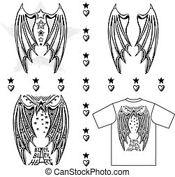 Devil's wings Vector illustration of devil's wings isolated...