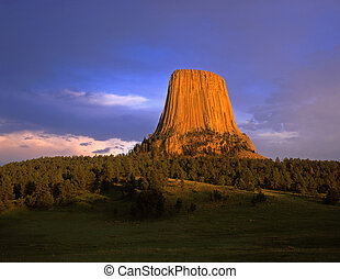 DevilsTower#2 - Devils Tower National Monument, located in...