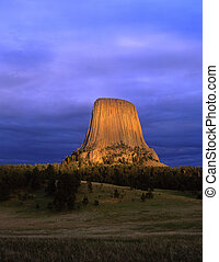 DevilsTower#5 - Devils Tower National Monument, located in...