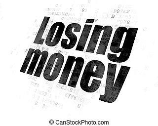 devise argent, fond, numérique, perdre, concept: