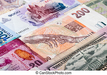 devises, de, différent, pays