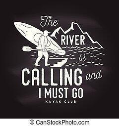 devoir, go., rivière, appeler